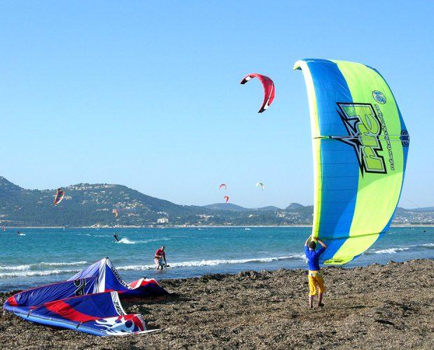 Kitesurf sur la Presqu'île de Giens