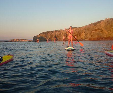 Faire du paddle à coté du camping International de Giens