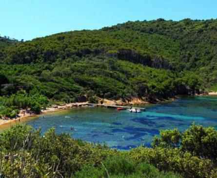 Plage de la Palud sur l'île de Port-Cros